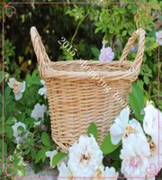 Wholesale Take a picnic basket containing wicker basket storage products with Home diametre cm height cm