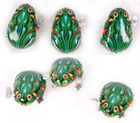 Wholesale Kids Tin Wind Up Clockwork Toy Jumping Frog Toys For Children Boys Educational ELT024