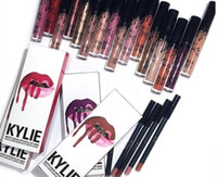 Wholesale Women s Kylie Lip Gloss Lipstick Kits Set Lipstick Lipliner Pen colors in Stock DA1 IB17