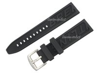 Wholesale 22mm mm New Men s High quality Black Diver Silicone Rubber Watch Bands Strap Use For Breitling Watch