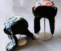 Wholesale Unisex Warm Trapper Hats Men Winter Cap Women Warm Trapper Cap Fashion Design Earflap Ski Hat Outdoor Sport Headwear Bomber Hats