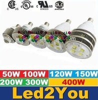Wholesale Cree E27 E40 Hook LED High Bay Lights W W W W W W W Led Warehouse Garage Light Gas Station Canopy lights