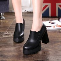band platform boots - Europen style Casual shoes Autumu women s shoes platform Chunky heel High Heel shoes