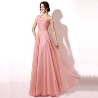 Cheap Wholesale elegant pink chiffon evening dress 2016 high-end banquet decals ms PROM dress party formal bridesmaid dresse