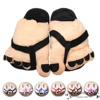 Wholesale Promotion On Sale Men Women Shoes Lover Warm Funny Big Foot Cartoon Indoor Slippers Plush Antiskid Home Floor Slipper