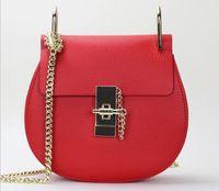Cheap 2016 New Brand Women Handbag Genuine Leather handbags Famous Saddle bags Women Cross body bag Single shoulder bag HE3810 AAA+ freeshipping