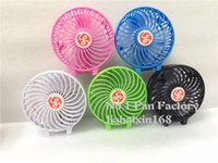 Wholesale Rechargeable USB Mini Portable Fan Li ion V Battery Powered Outdoor Camping office Cooler Fans Meow