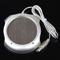 Wholesale 2015 Hot Fast USB Tea Coffee Warmer Heater Cup Mug Pad Port USB Hub Office PC Laptop