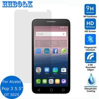 Wholesale For Alcatel Pop C5 C7 C9 Tempered glass Screen Protector Film On idol Pixi s Plus Go Play Fierce XL
