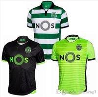 Wholesale Best Quality Soccer Jersey Sporting Lisbon Jersey de futbol Luis Figo Nani TEO Slimani William Montero Home Away Football Shirts T