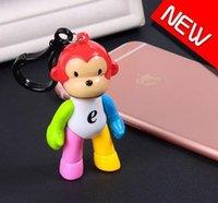 animal violence - Color Zodiac monkey small gift car key buckle pendant creative movable violence bear doll key pendant lovely Keychain car key chain sweethea