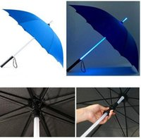 Wholesale Led Pencils Free Shipping - Free Shipping Cool Blade Runner Light Saber LED Flash Light Umbrella rose umbrella bottle umbrella Flashlight Night Walkers JF-04
