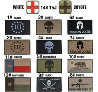 Wholesale 3 inch COYOTE Molon Labe D Embroidery Patch with magic stick Armband Military patches Outdoor Army Armband patch VP