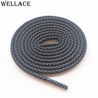 Wholesale Wellace Round Rope M laces Visible Reflective Runner Shoe Laces Safty Shoelaces Shoestrings cm quot for boost basketball shoes