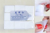 Wholesale 600pcs Per Pack Professional Lint Free Nail Wipes Soft Nail Cotton Wipe Pad Dropshipping Nail Polish Remover With Retail Package