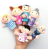 baby toys flannels - 6 Colorful Family Finger Puppets Play Game Tell Story Flannel Cloth Baby Kids Toys Gift Reborn Dolls Babies