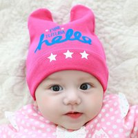 Wholesale Newborn child hat qiu dong cotton baby hat months sets the infant baby hat in winter