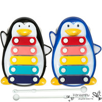 Wholesale 2016 Real New Good Quality Funny Penguin Design Educational note Xylophone Musical Toys for Baby Kids Children Black blue cmx10 cm
