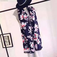 Wholesale Luxury scraf Silk Scarf Long winter Style Ladie Cashmere Silk Scraf Famous brand Monster shawl for Women with Floral