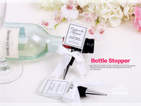 Wholesale 50pcs Crystal Photo Frame Bottle Stopper Wedding Favors and gifts Wine Stopper Wedding supplies Party Guests gift box Giveaways