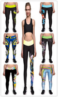 american adventures - Fashion Women D Graphic Adventure Time skull Comic High waist Leggings sports workout skinny Spandex Graffiti women pants Plus size XL