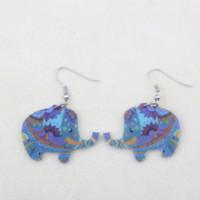 Cheap Bonsny drop elephant earrings acrylic pattern new 2015 spring summer girls woman jewelry accessories animal earrings