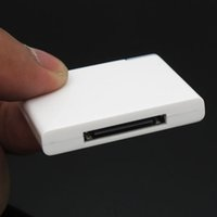 Wholesale 100pcs Bluetooth Music Audio Adapter Pin Bluetooth Receiver for iPod Touch for iPhone to connect Dock Speaker play music