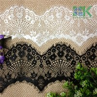 access meter - SK Lace Meter Black White Lace Fabric cm DIY Decorative Gorgeous Nylon Eyelash Lace Trim Diy Clothing Access