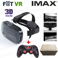 Wholesale 2016 FIIT N VR Virtual Reality Smartphone D Glasses google cardboard vr box with package wireless bluetooth game gamepad