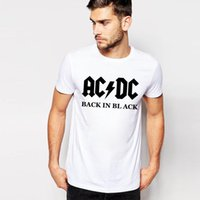 ac rock band - New Camisetas AC DC band rock T Shirt Mens acdc Graphic T shirts Print Casual Tshirt Plus Size O Neck Hip Hop Short Sleeve