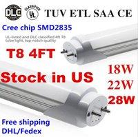 Wholesale G13 T8 Led Tubes Led Bulbs ft m mm High Super Bright W W W K K Warm Cool White Led Light Lamp AC110 V