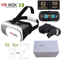 Wholesale 2016 Professional VR BOX Google andriod Cardboard Original Virtual Reality Head mounted D Glasses Case Phone Bluetooth Controller Gamepad