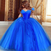 affordable quinceanera dresses - Hot Sale Pretty Affordable Cheap Cinderella Quinceanera Dresses Masquerade Sweet Ball Gown Birthday Butterfly Blue Prom Dress