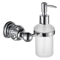 Wholesale chrome crystal Soap Dispenser Bathroom Accessories Soap Dispenser GY020