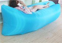 Wholesale hot selling Fast Inflatable Sofa Outdoor foldable Sofa Air Sleep Sofa Couch Portable Furniture Sleeping Hangout Lounger Inflate Air Bed