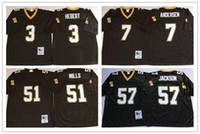 Wholesale Throwback Rickey Jackson Morten Andersen Bobby Hebert Sam Mills Black Stitched Saints Football Jerseys