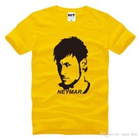 barcelona tee shirt - NEW Football Barcelona Neymar Printed Men s T Shirt T Shirt Men New Short Sleeve O Neck Cotton Casual Top Tee Camisetas Hombr