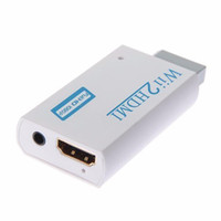 Wholesale 3 mm Audio Video Converter Adapter P P HD Upscaling HDMI Converter Adapter with High Speed HDMI Cables for Wii to HDMI
