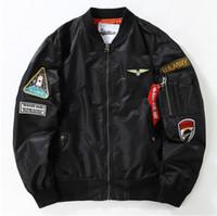 air force badge - 2016 American military wind Department of air force MA1 badge Harajuku pilot jacket coat thin baseball uniform tide brand men
