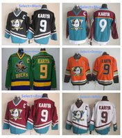 Wholesale Throwback Paul Kariya Jersey Sport Anaheim Ducks Stadium Series Mighty Ducks Movie Green Mighty Purple Red Black White Orange Black