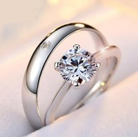 Wholesale Couple jewelry opening adjustable ring diamond ring wedding jewelry classic style ring wedding supplies gifts