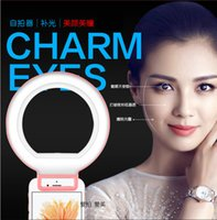 apple brightness - LED Selfie Ring Light for Smart Phones with Biuld in Battery with micro USB Clorful LED Phone Light type Brightness