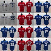Wholesale 2016 Mens Elite Toronto Blue Jays Jose Bautista Josh Donaldson Troy Tulowitzki Kevin Pillar Stitched Baseball Jerseys