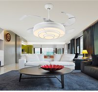 Wholesale White pastoral expansion Fan ceiling fan light lamp modern minimalist dining room lights fan ceiling LED study home inch