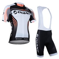 Wholesale Giant Style Cycling Jersey Set Short Sleeve Padded Trousers Men Summer Cycling Clothes Black And Red Top Class Lycra Cycling Kit