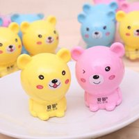 Wholesale New Random Color Bear Cute Little Elephant Pencil Sharpener Cut Stationery H0334