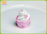 Wholesale 3d ice cream cup cake soap molds baking silicone mold fondant mould resin clay silicon mold