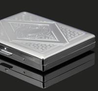 Wholesale CM New Pocket tinplate Cigarette Case Plated Tobacco Case Box Holder Cigar Smoke smoking grinder