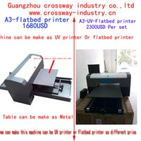 Wholesale A3 flatbed UV printer with White ink for printing all materials