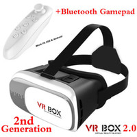Wholesale 2016 New Google Cardboard VR BOX II Version Virtual Reality Headset VR D Glasses For inch Smartphone with Bluetooth Gamepad